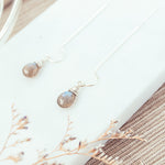 Load image into Gallery viewer, Labradorite Drop Intuitive Earrings Earrings