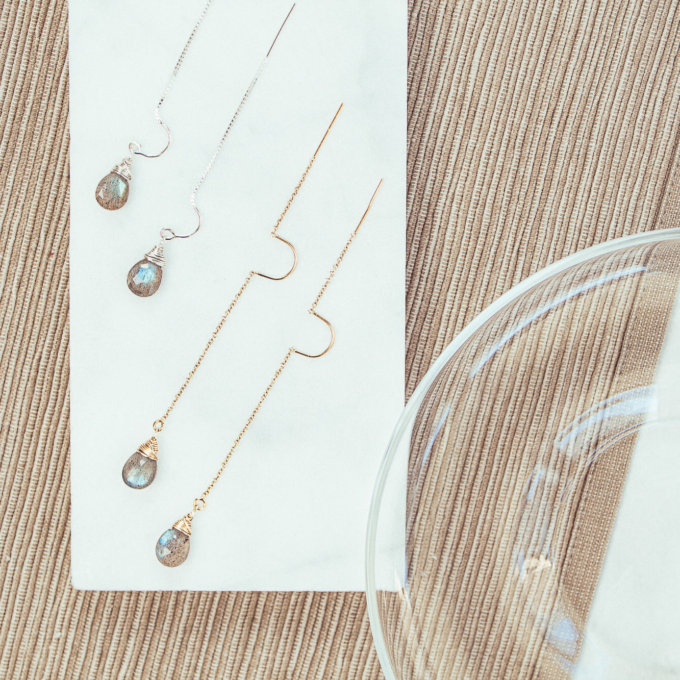 Labradorite Drop Intuitive Earrings Earrings