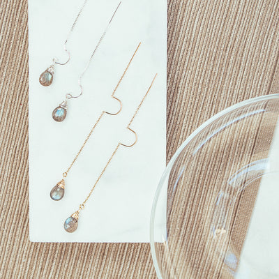 Elina Labradorite Drop Intuitive Earrings