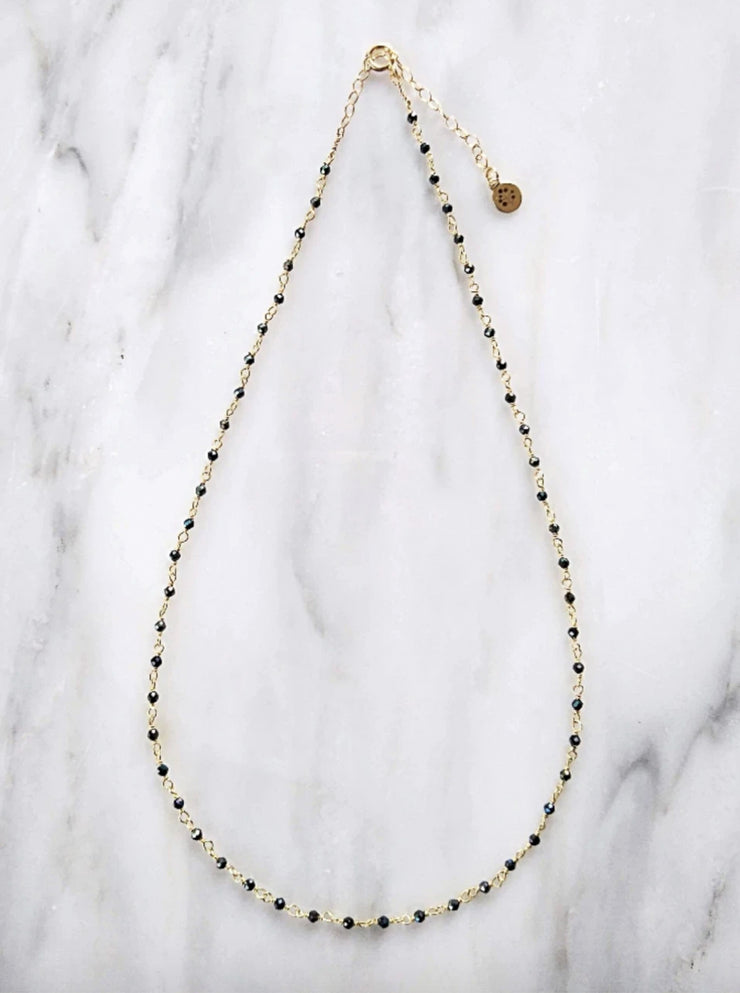 Hematite Gold-filled Necklace