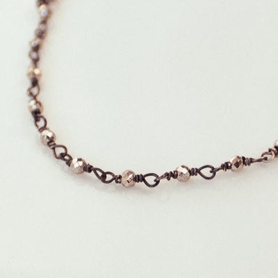 Elina Sterling Silver, Antiqued Black Silver Beads Necklace