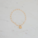 Load image into Gallery viewer, Oval Gold Lock Bracelet