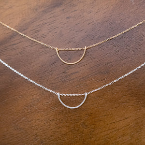 Geometric Half Circle Necklace