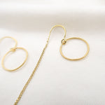 Load image into Gallery viewer, Eternity Dainty Drop Earrings