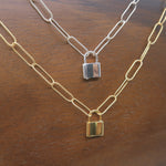 Load image into Gallery viewer, Lock Chain Necklace