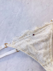 Delightful Chantilly Lace Thong - Chakra Intimates