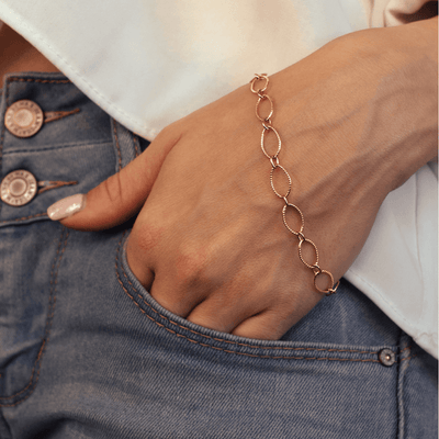 Link Gold-Filled Infinite Chain Bracelet