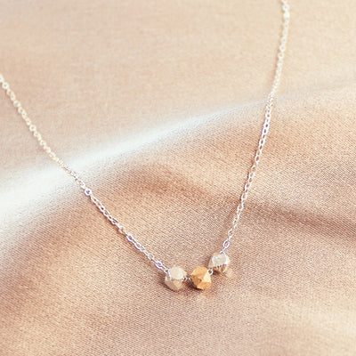I Love You Dainty Necklace Two Tone