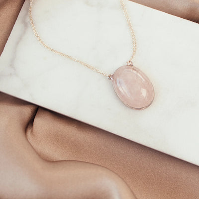 Jona Sterling Silver Rose Quartz Love Necklace