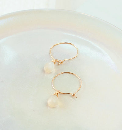 Opal Gemstone Earrings-Gold Filled