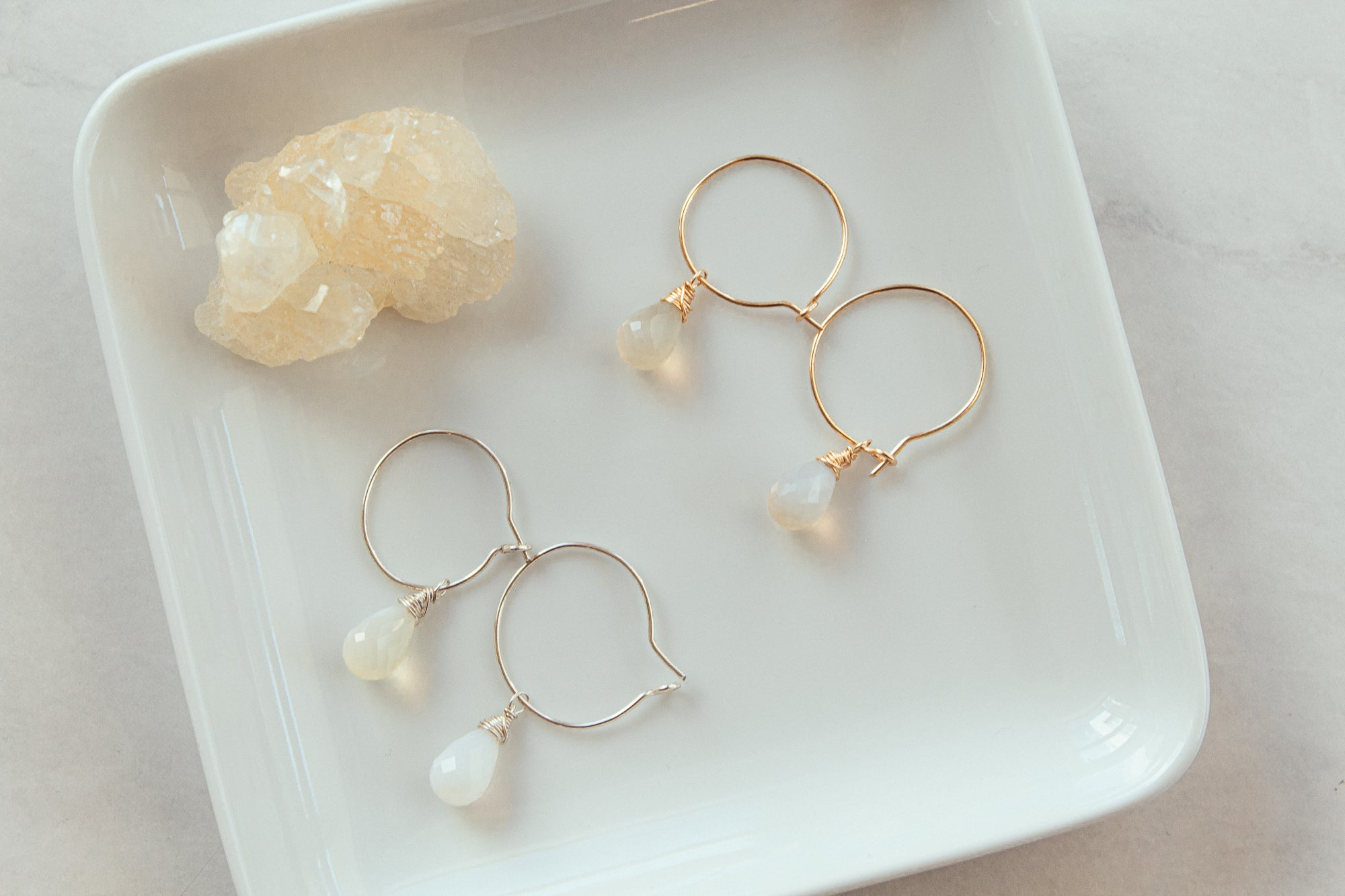 Opal Gemstone Earrings