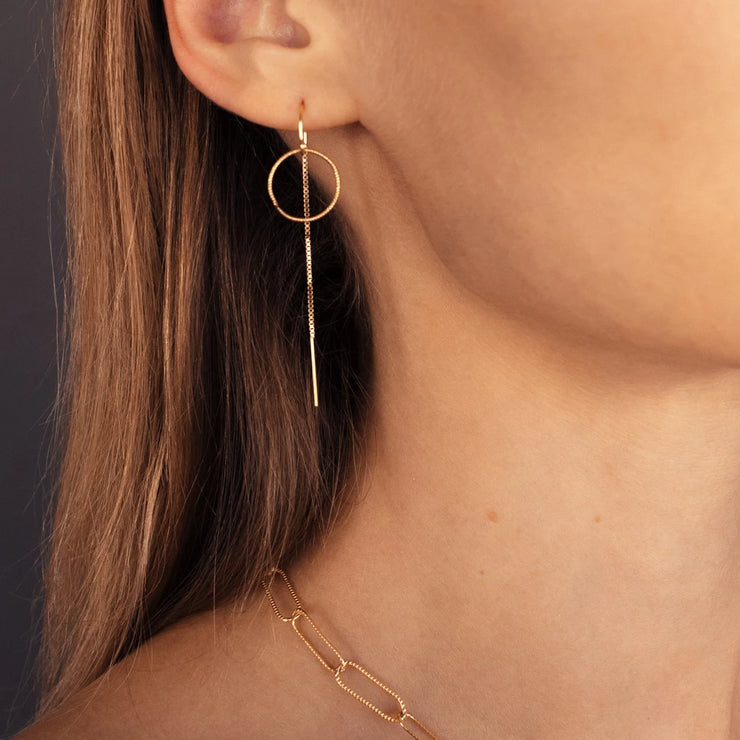 Eternity Gold Drop Earrings