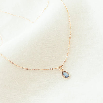 Elina Gold-filled Labradorite Necklace