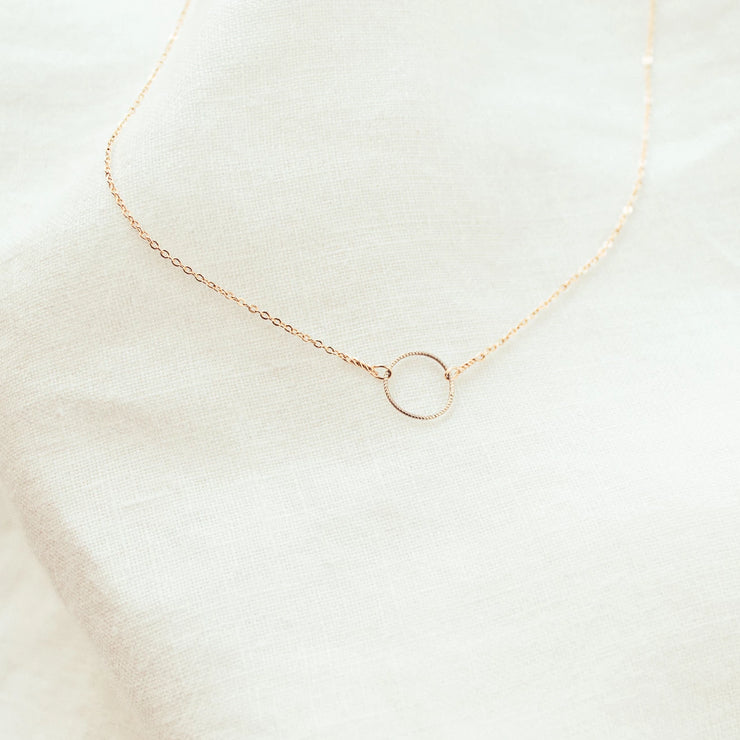 Circle of Life Sphere Necklace Two Tone