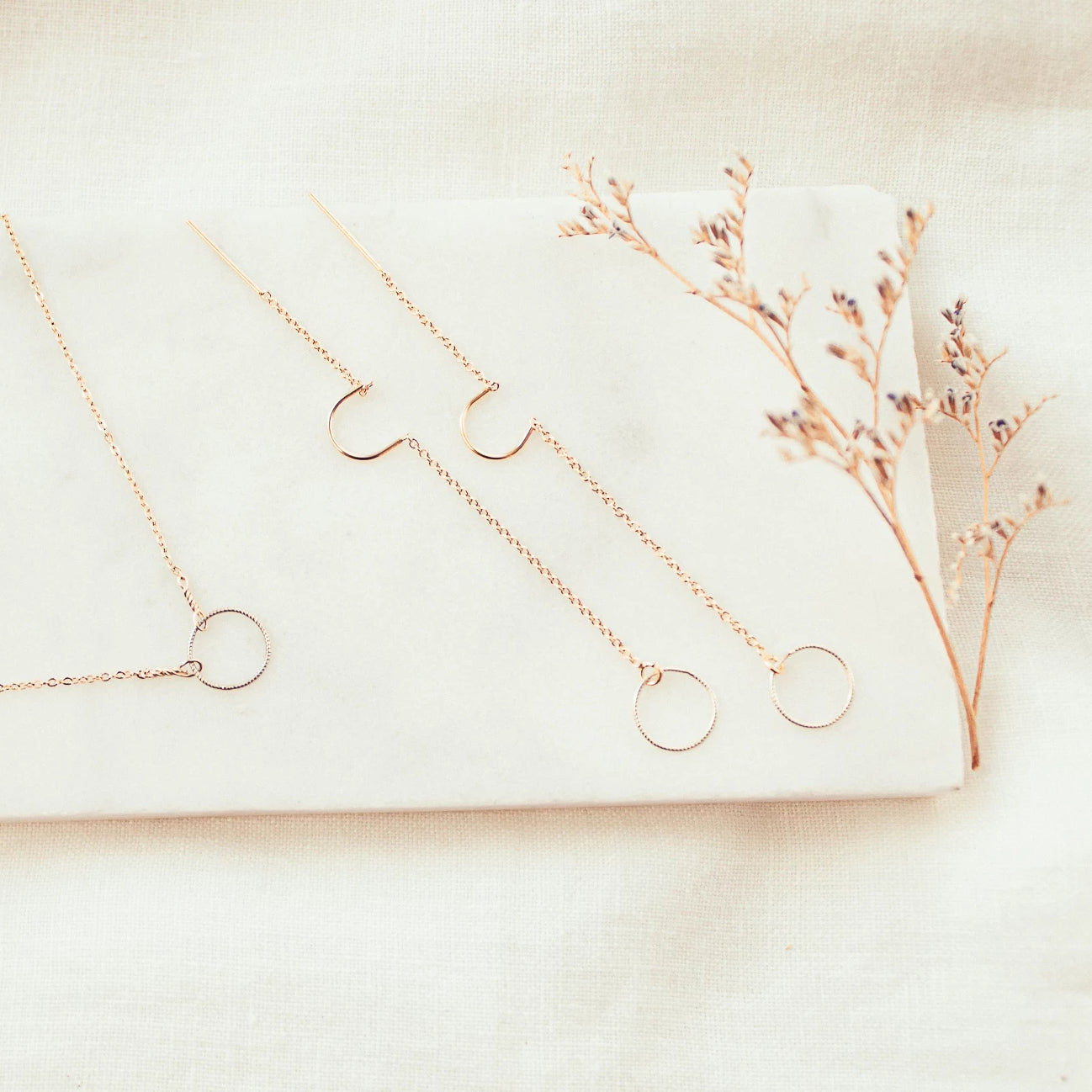 Eternity Dainty Drop Earrings