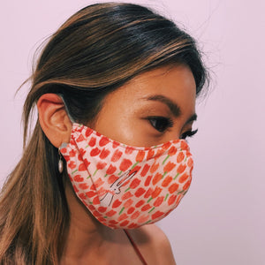 Face Masks with Adjustable Straps - Spring Bunny