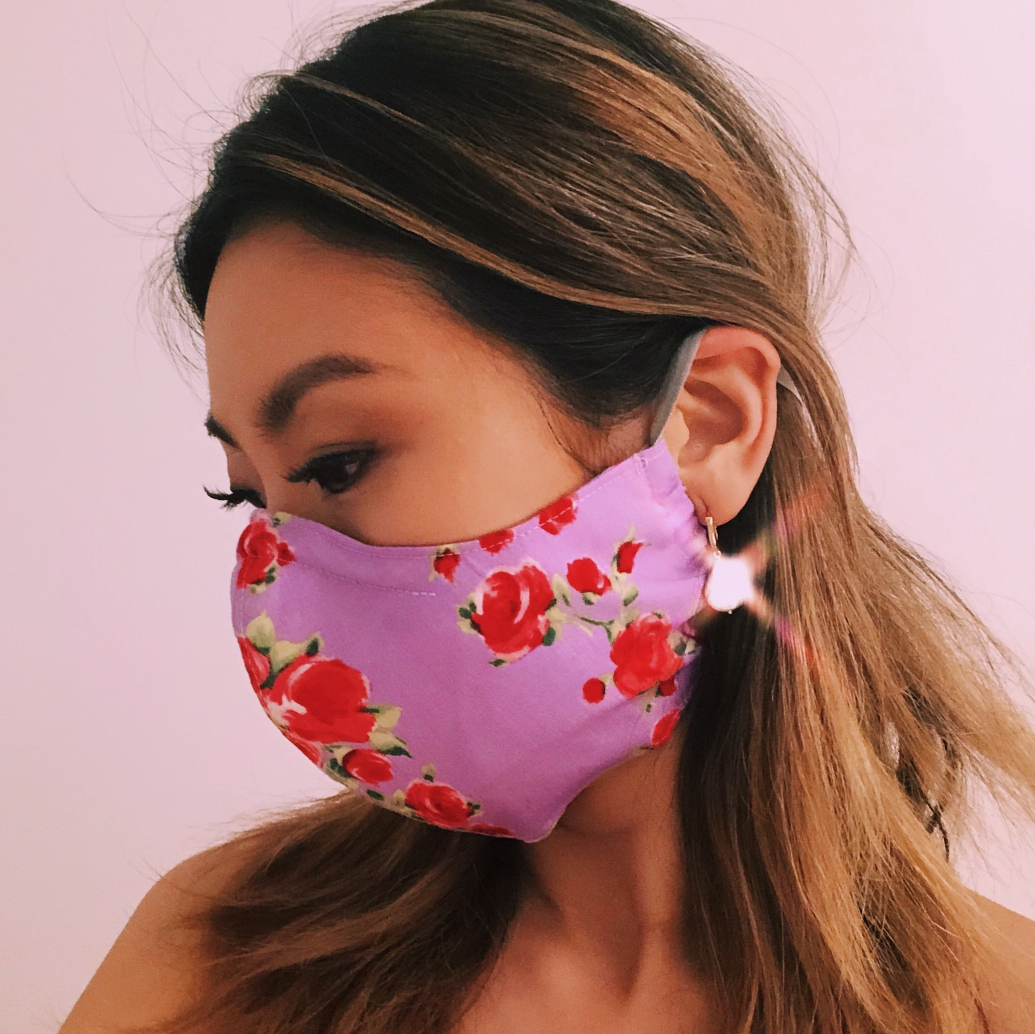 Face Masks with Adjustable Straps - La Boheme Violet