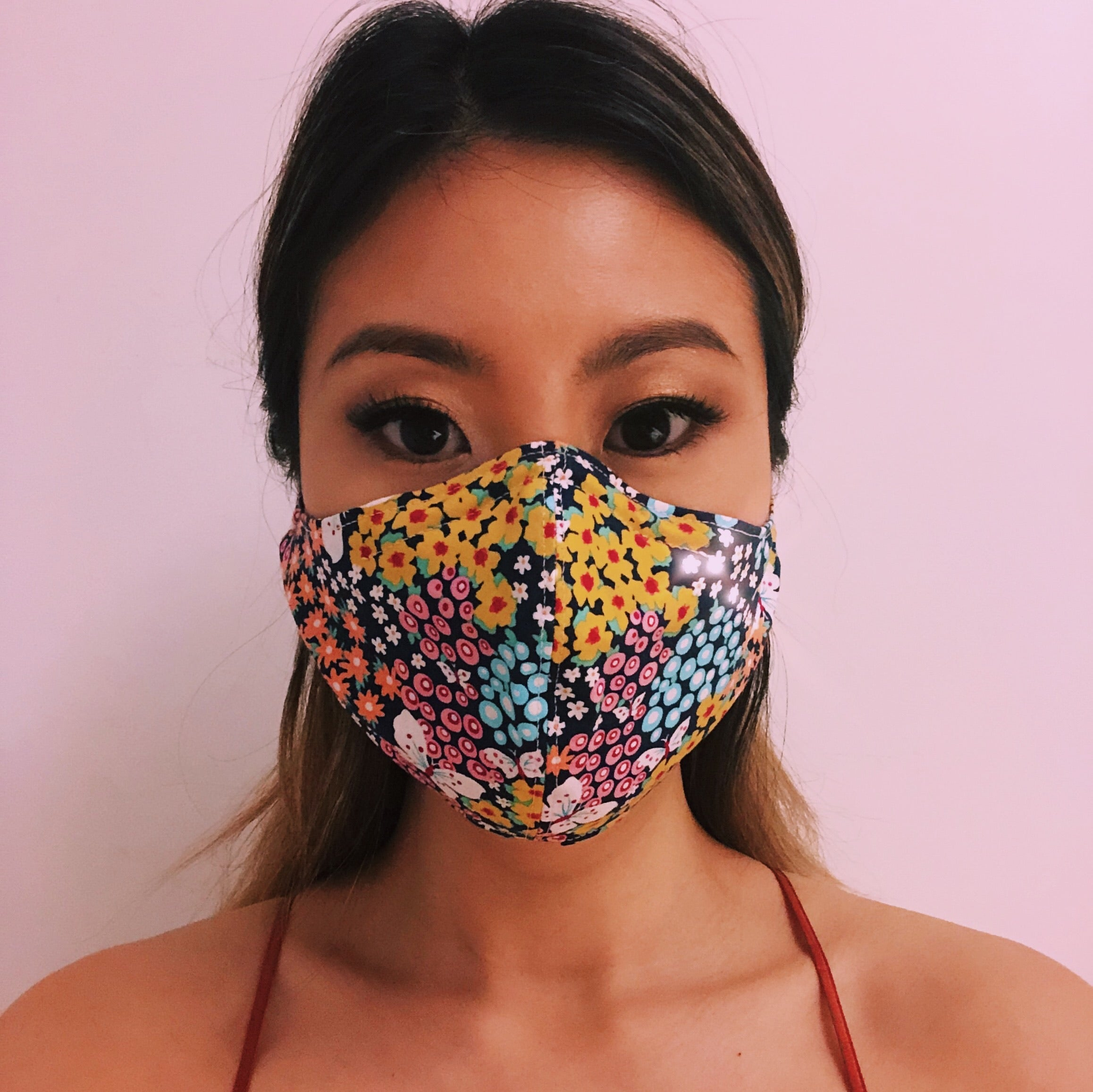 Face Masks with Adjustable Straps - Spring Flowers