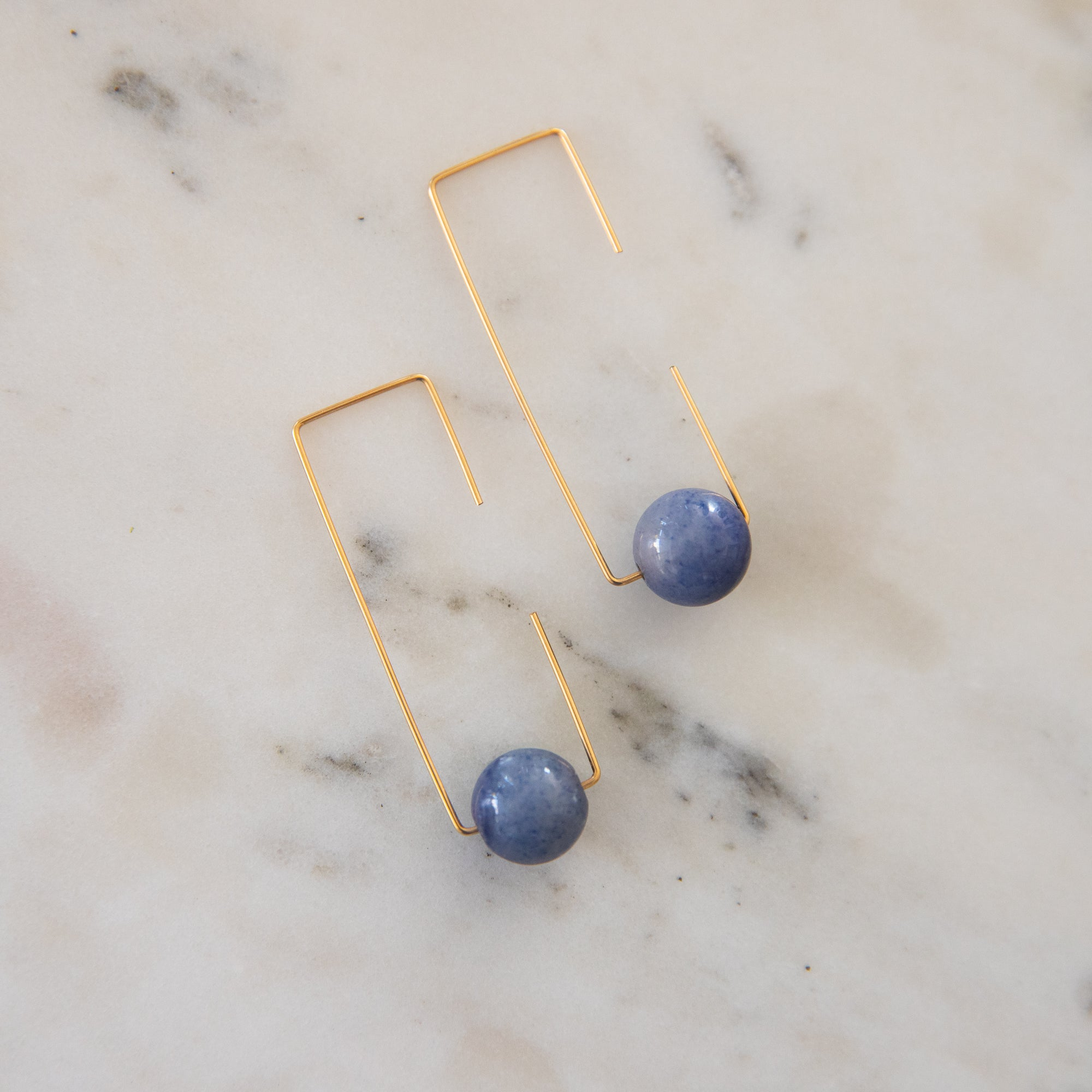 Geometric Stone Earrings