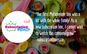 MyFUNvelope review canadian kids craft subscription box. Sparks curiosity and STEAM learning activities.