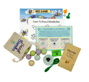 Fun craft kits delivered to Canadian kits. Feed the bees craft kit. fun activities for kids shipping from Canada