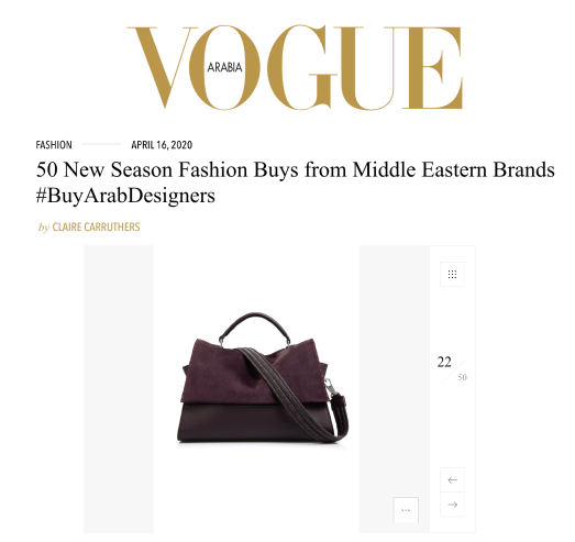 VOGUE ARABIA ONLINE | APRIL 2020