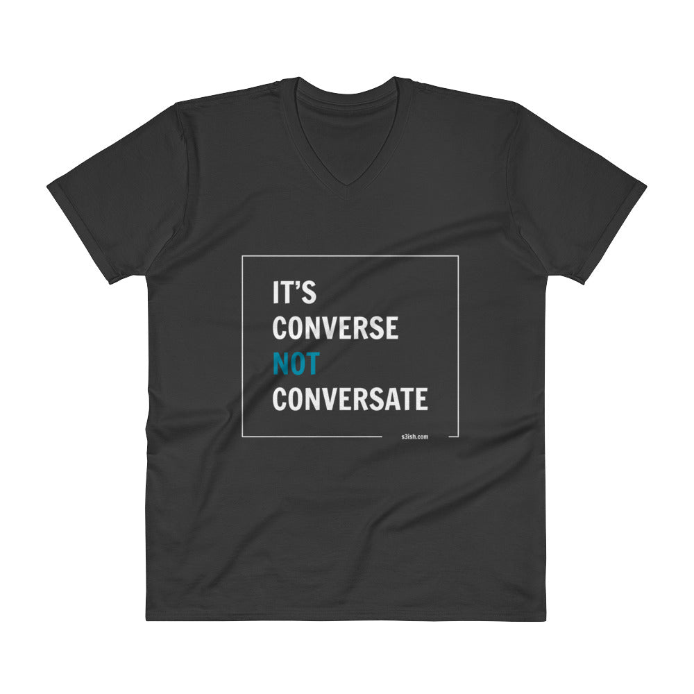 """It's converse"" V-Neck T-Shirt"
