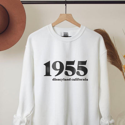 1955 Disneyland California Sweatshirt (Pick your own colours) - We're All Ears Boutique