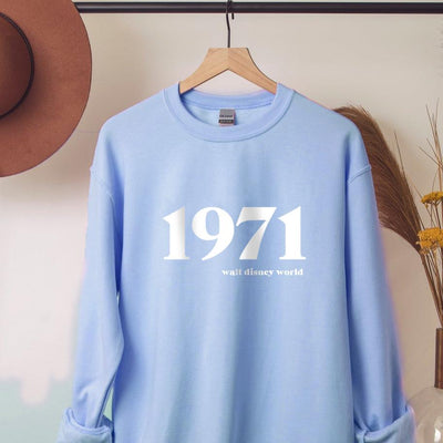 1971 Walt Disney World Sweatshirt (Pick your own colours) - We're All Ears Boutique