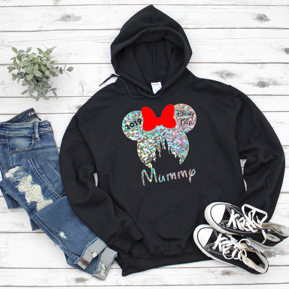 Holographic Adults Disney Family Vacation Hoodie - We're All Ears Boutique