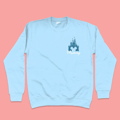 Glitter Disney Castle Sweatshirt (Choose your own colours) - We're All Ears Boutique