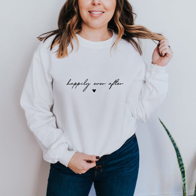 Happily Ever After Disney Sweatshirt (Pick your own colours) - We're All Ears Boutique