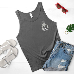 Adults Glitter Castle Personalised Disney Vest Tank Top - We're All Ears Boutique