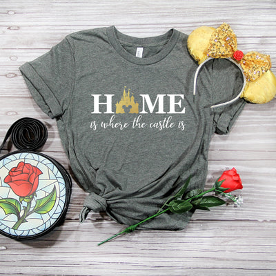 """Home is Where The Castle is"" Tshirt - We're All Ears Boutique"