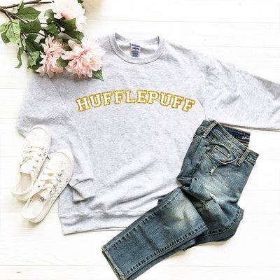 Hufflepuff House Glitter Sweatshirt | Harry Potter - We're All Ears Boutique