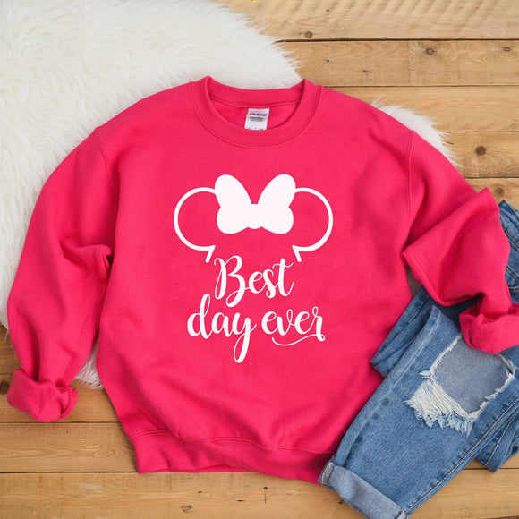 Best Day Ever Disney Sweatshirt (Pick your own colours) - We're All Ears Boutique