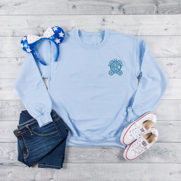 Cinderella's Carriage Personalised Monogram Sweatshirt - We're All Ears Boutique