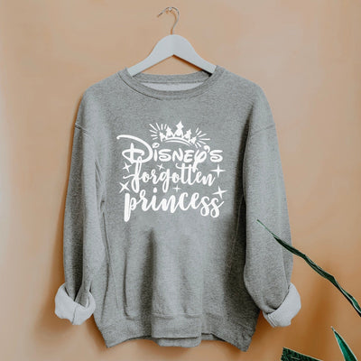 """Disney's Forgotten Princess"" Sweatshirt (Pick your own colours) - We're All Ears Boutique"