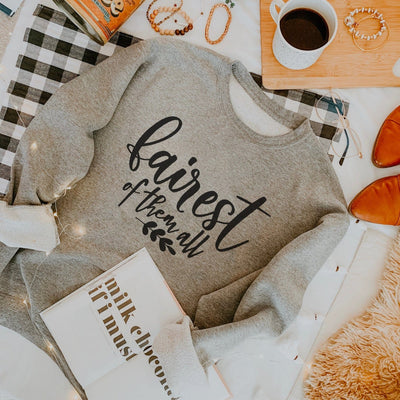 """Fairest of them all"" Sweatshirt (Pick your own colours) - We're All Ears Boutique"
