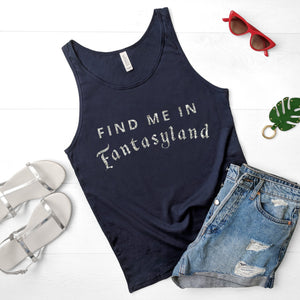 """Find me in Fantasyland"" Vest Tank Top - We're All Ears Boutique"