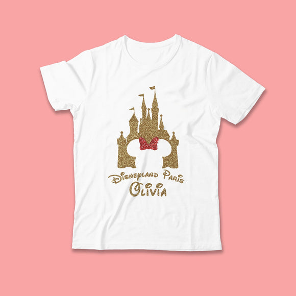 Disney Castle Glitter Tshirt - We're All Ears Boutique