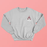 Glitter Disney Castle Grey Sweatshirt - We're All Ears Boutique