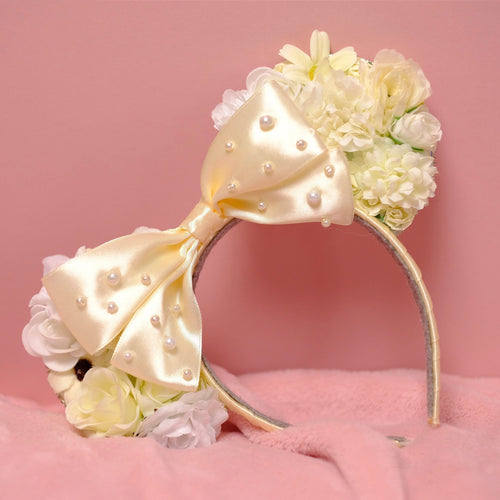 Bridal White Mouse Ears - We're All Ears Boutique