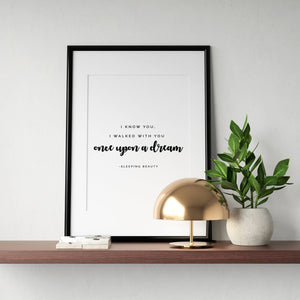 Once Upon a Dream Quote - We're All Ears Boutique