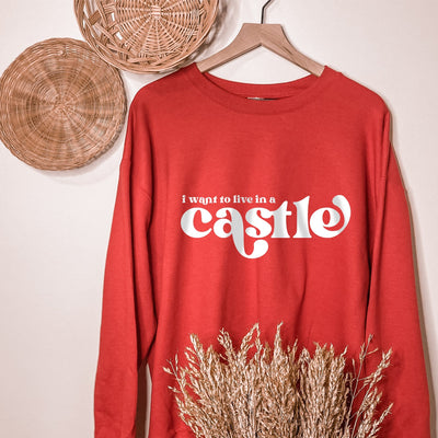 """I Want To Live In A Castle"" Disney Sweatshirt (Pick your own colours) - We're All Ears Boutique"
