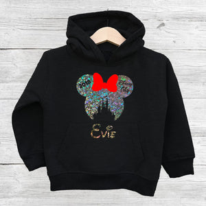 Holographic Children's Disney Family Vacation Hoodie - We're All Ears Boutique