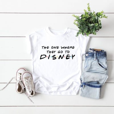 "Children's ""The One Where They Go To Disney"" Tshirt - We're All Ears Boutique"