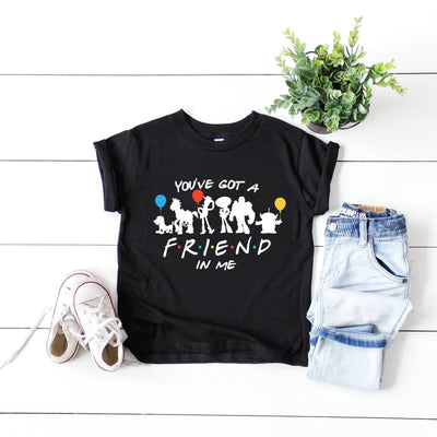 RTS - Kids You've Got A Friend in Me Light Grey Tshirt with White Text - We're All Ears Boutique