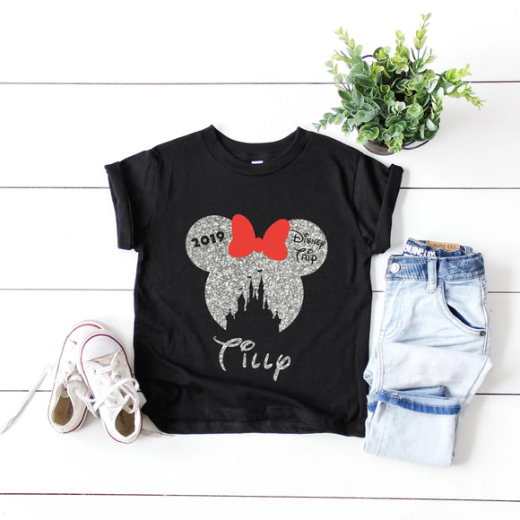 Kids Holographic or Glitter Disney Family Vacation Tshirt - We're All Ears Boutique