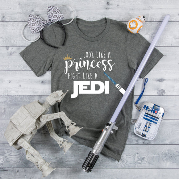 Look like a Princess, Fight like a Jedi Tshirt / Star Wars - We're All Ears Boutique